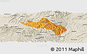 Political Panoramic Map of Namhsan, shaded relief outside