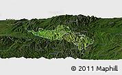 Satellite Panoramic Map of Namhsan, darken