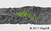 Satellite Panoramic Map of Namhsan, desaturated