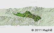 Satellite Panoramic Map of Namhsan, lighten