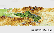 Satellite Panoramic Map of Namhsan, physical outside