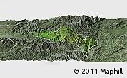 Satellite Panoramic Map of Namhsan, semi-desaturated