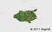 Satellite Panoramic Map of Nampan, cropped outside