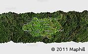 Satellite Panoramic Map of Nampan, darken