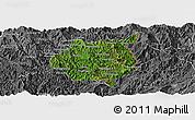 Satellite Panoramic Map of Nampan, desaturated