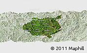 Satellite Panoramic Map of Nampan, lighten