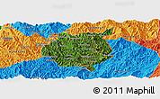 Satellite Panoramic Map of Nampan, political outside