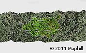 Satellite Panoramic Map of Nampan, semi-desaturated