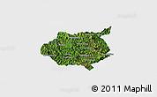 Satellite Panoramic Map of Nampan, single color outside