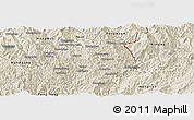 Shaded Relief Panoramic Map of Nampan