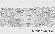 Silver Style Panoramic Map of Nampan