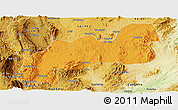Political Panoramic Map of Namsang, physical outside