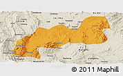 Political Panoramic Map of Namsang, shaded relief outside