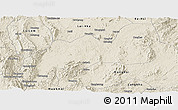 Shaded Relief Panoramic Map of Namsang