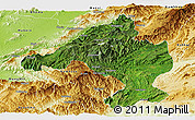 Satellite Panoramic Map of Namtu, physical outside