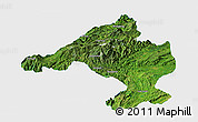 Satellite Panoramic Map of Namtu, single color outside