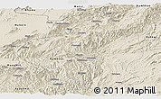 Shaded Relief Panoramic Map of Namtu