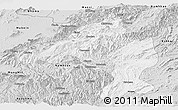 Silver Style Panoramic Map of Namtu