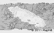 Gray Panoramic Map of Nawnghkio