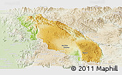 Physical Panoramic Map of Nawnghkio, lighten