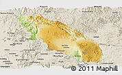 Physical Panoramic Map of Nawnghkio, shaded relief outside