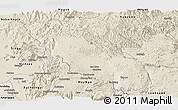 Shaded Relief Panoramic Map of Nawnghkio