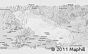 Silver Style Panoramic Map of Nawnghkio