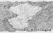 Gray Panoramic Map of Pang-Yang