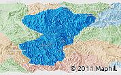 Political Panoramic Map of Pang-Yang, lighten