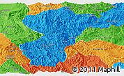 Political Panoramic Map of Pang-Yang