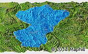 Political Panoramic Map of Pang-Yang, satellite outside