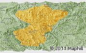 Savanna Style Panoramic Map of Pang-Yang