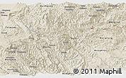 Shaded Relief Panoramic Map of Pang-Yang