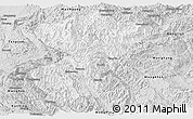 Silver Style Panoramic Map of Pang-Yang