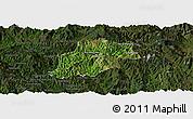 Satellite Panoramic Map of Pangwaum, darken