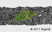 Satellite Panoramic Map of Pangwaum, desaturated