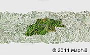 Satellite Panoramic Map of Pangwaum, lighten
