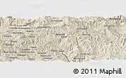 Shaded Relief Panoramic Map of Pangwaum