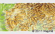 Physical Panoramic Map of Shan
