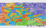 Political Panoramic Map of Shan, political shades outside
