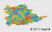 Political Panoramic Map of Shan, single color outside