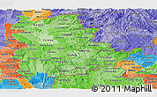 Political Shades Panoramic Map of Shan