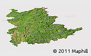 Satellite Panoramic Map of Shan, cropped outside