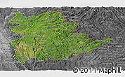 Satellite Panoramic Map of Shan, desaturated