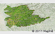 Satellite Panoramic Map of Shan, lighten