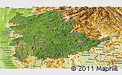 Satellite Panoramic Map of Shan, physical outside
