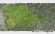 Satellite Panoramic Map of Shan, semi-desaturated