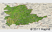 Satellite Panoramic Map of Shan, shaded relief outside