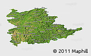 Satellite Panoramic Map of Shan, single color outside