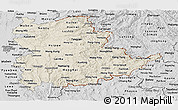 Shaded Relief Panoramic Map of Shan, desaturated